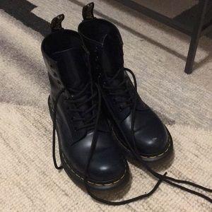 Navy Blue Dr. Martens Original 8-eye boots